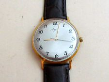 LUCH VIMPEL gold plated Au20 USSR vintage men's mechanical ULTRA THIN watch