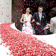 600 pcs White Red Pink Silk Heart-Shape Flower Petals Wedding Party Decoration