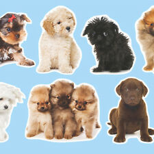 ADORABLE PUPPIES WALL STICKERS cute dog puppy decals great wallpaper alternative