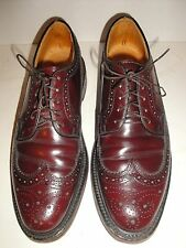MENS HANOVER DARK BURGUNDY LEATHER WINGTIP OXFORDS SHOE SIZE 8.5 C