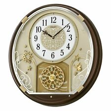 Seiko Starry Night Melodies in Motion Wall Clock - 15.25 in. Wide, Brown