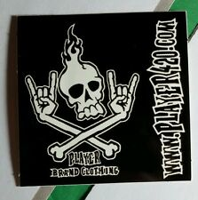 PLAYER 420 CLOTHING SKULL ROCK HAND CROSSBONES AKULL B&W MUSIC STICKER