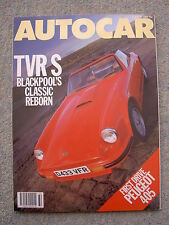 Autocar (5 Aug 1987) TVR S, Renault 5GT Turbo, Alpina B11, Sunny ZX, Peugeot 405