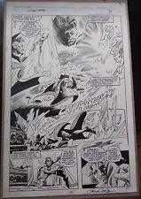 Gene Colan Al Williamson DR. STRANGE original art splash page Marvel Fanfare 52