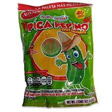 ALTEÑO SUPER PICA PEPINO PALETA 40ct, Spicy Cucumber Lollipops, Mexican Candy