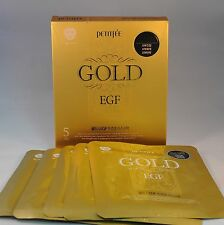 Korea Petitfee Gold & EGF Transparent Gel Face Mask ( 1 box/5 pieces) US Seller