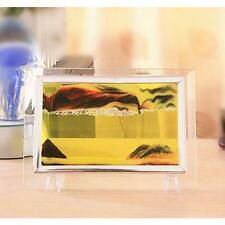 Metal Frame Moving Sand Time Glass Picture Home Office Desk Decor Craft Gift び