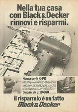 X4522 Trapano Black & Decker - Pubblicità 1976 - Advertising