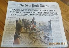 9/13/2001 - NY TIMES - AFTERMATH OF 9/11/2001 WORLD TRADE CENTER ATTACK