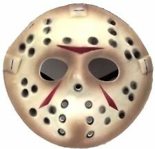 Jason Vorhees Face Friday the 13th Hockey Mask Killer Halloween Costume NEW