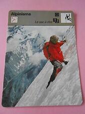 Alpinisme Le Sac à Dos  Essentiel pour la survie Fiche Card 1977