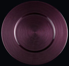 """Glass Charger Plate 13"""" Halo Purple- Set of 2"""
