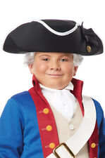 Brand New Colonial Soldier Child George Washington Tricorn Costume Hat Black