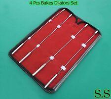 Bakes Rosebud Urethral Sounds Set - 2mm, 3mm, 4mm , 5mm