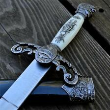 "14"" Dark Knight Celtic Medieval Fixed Blade Knife Short Sword Dagger w/ Sheath"