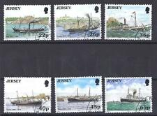JERSEY, 2001, MAIL PACKET SHIPS, SG 973-78,  FINE USED, CAT £6