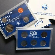 "1999-S  SAN FRANCISCO  9-COIN  ""S-PROOF""  SET, ""BU"" UNCIRCULATED COINS w/ COA"