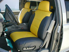 CHEVY TAHOE 1995-1999 IGGEE S.LEATHER CUSTOM FIT SEAT COVER 13 COLORS AVAILABLE