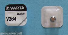 4 x VARTA V 364 Knopfzelle Uhrenbatterie V364 SR621SW SR60 SR621 AG1 Blister