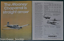 1974 MOONEY CHAPARRAL 2-page advertisement, Mooney Aircraft Co private plane