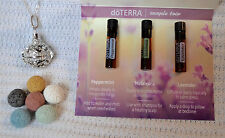 Venetian Style Aromatherapy Diffuser Necklace and DoTERRA Essential Oil Samples