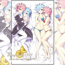 Anime Re Zero Rem and Ram Otaku Dakimakura Hugging Body Pillow Cover Case 150cm