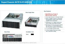 "Supermicro 4U 36 bay 3.5"" HDD Server, E5 8 Core CPU, 64Gb RAM, LSI 6Gb RAID"