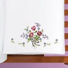 Prairie Rose - Stamped for Embroidery - Table Runner/Dresser Scarf