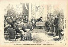 PROCES MARÉCHAL BAZAINE TRIANON COLONEL STOFFEL CONSEIL DE GUERRE 1873 GRAVURE