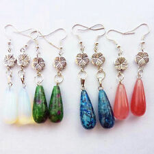 4pairs mixed stone Teardrop earrings A24170