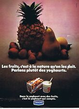 PUBLICITE ADVERTISING 114 1972 DANONE yoghourt aux fruits