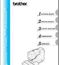 Brother SE-270D Sewing Machine Instruction Manual Users Guide PDF on CD