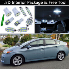 11PCS White LED Interior Car Lights Package kit Fit 2004-2014 Toyota Prius J1