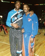 1994 CHARLES OAKLEY & SHAQUILLE O'NEAL Glossy Photo 8x10 ALL STAR GAME PICTURE!