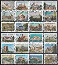4229-4252 French Historic Residences (24 USED Stamps)