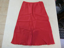 Women's ALANNAH HILL Size 8 AU Skirt Red As New Above Knee Light Weight Elastic