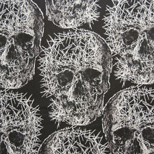 MM51 Thorny Skull Prickly Needles Spikes Creepy Quilting Cotton Quilt Fabric