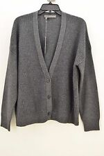360 Cashmere Women's Gray CARDIGAN SWEATER Size LARGE