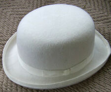 CHRISTYS WHITE Bowler Hat Hard Top 100% Wool,STYLE,clock work orange,SKA,ELECTRO