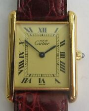 AUTHENTIC LADIES VINTAGE CARTIER TANK QUARTZ WRISTWATCH   A/F