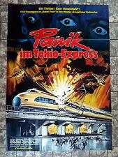 PANIK IM TOKIO-EXPRESS * A1-FILMPOSTER - Ger 1-Sheet 1976 Shinkansen daibakuha