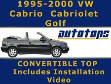 VW Volkswagen Cabrio Golf Cabriolet Convertible Top   95-00   Haartz Cloth