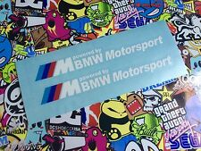 VINILO ADHESIVO PEGATINA BMW MOTORSPORT  X2 STICKER CAR COCHE TUNNING White