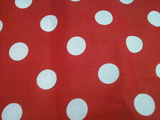 """1 YARD OF RED AND WHITE POLKA DOT FABRICS 60"""" WIDE"""