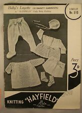 Baby's Layette - Hayfield - Leaflet 510 - 10 Knit Patterns