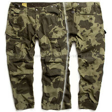 G-STAR RAW CARGO PANTS TAPERED BORDER MILITARY CAMO SAGE JEANS  W31 L38