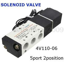 2 Position 5 Way Air Solenoid Valve Kit Pilot-operated 4V110-06 1/8'' PT DC12V