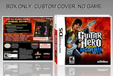 "NINTENDO DS : GUITAR HERO MODERN HITS. UNOFFICIAL COVER. ORIGINAL BOX. ""NO GAME"""
