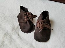 Baby GAP Boy 6-12 mos Dark Brown Leather Suede Booties shoes girl unisex