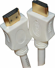 White 10m HDMI 1.4 Version High Speed Cable Lead Cord Gold Contacts 3D HD TV